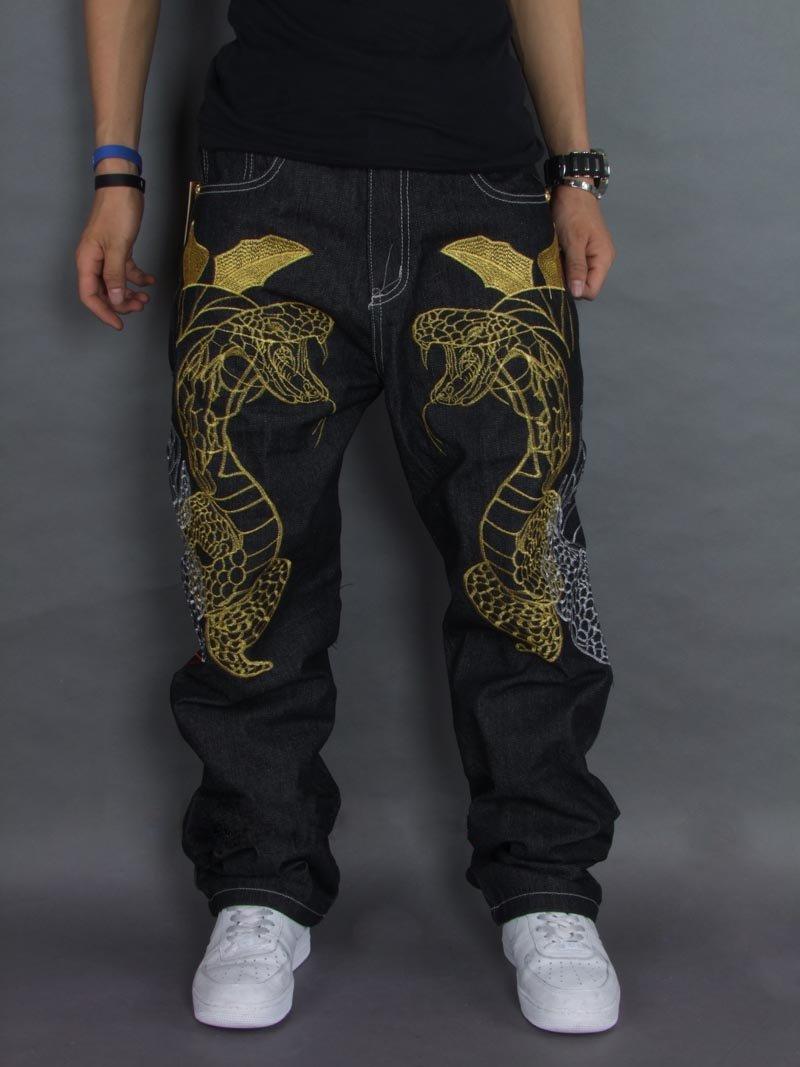 Hip Hop Fashion For Men denim brand jeans Pict...