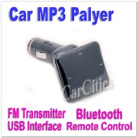 Hot sale Bluetooth Car MP3 Player,car Bluetooth Wireless FM transmitter with remote control USB interface,Free Shipping