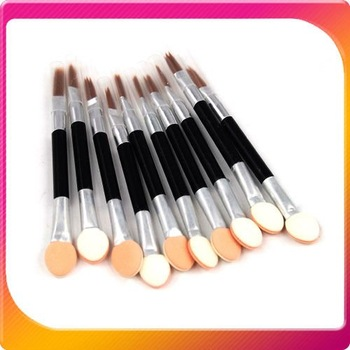 2013 Free shipping 100PCS/LOT Disposable Cosmetic Make Up EyeShadow Lip Sponge Brush Applicators Double Ended Heads