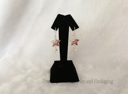Free shipping Jewelry Display Stand Black Velvet Earrings Holder Dangle Tree 4 inch(China (Mainland))
