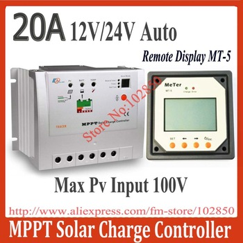 Brand New 20A mppt solar controller regulator Tracer2210 with remote display MT-5,12/24V auto work