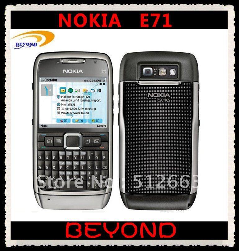 Nokia E71 original unlocked 3G GSM mobile phone QWERTY Russian&Arabic keyboard available dropshipping(China (Mainland))