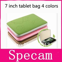4 colors Universal 7 inch tablet pc case with zipper Android robot Soft Cloth bag Cover for 7 inch Phone Tablet PC MID E-book