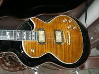 2012 HOT SALE brown Fierce Tiger Supreme electric guitar mahogany body ebony fingerboard gold hardware music guitar