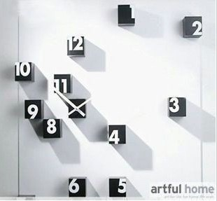 A041 DIY clock Funny ClockS big large digital wall clocks stickers home decoration novelty items uniquegift wholesale