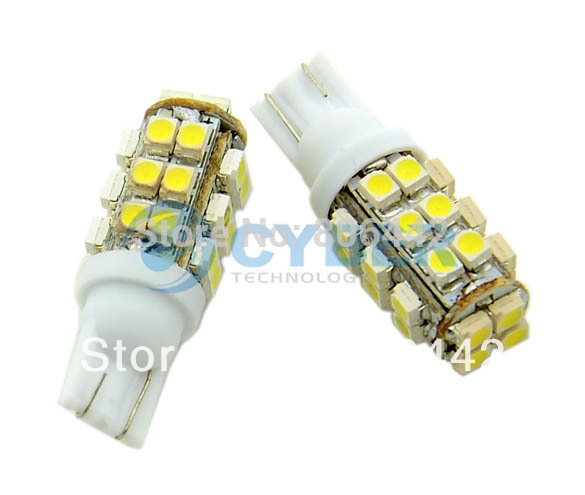 Free Shipping 2X T10 LED Bulb 3528 SMD Pure White Car Side Wedge Light Lamp Tail Light 12V 18