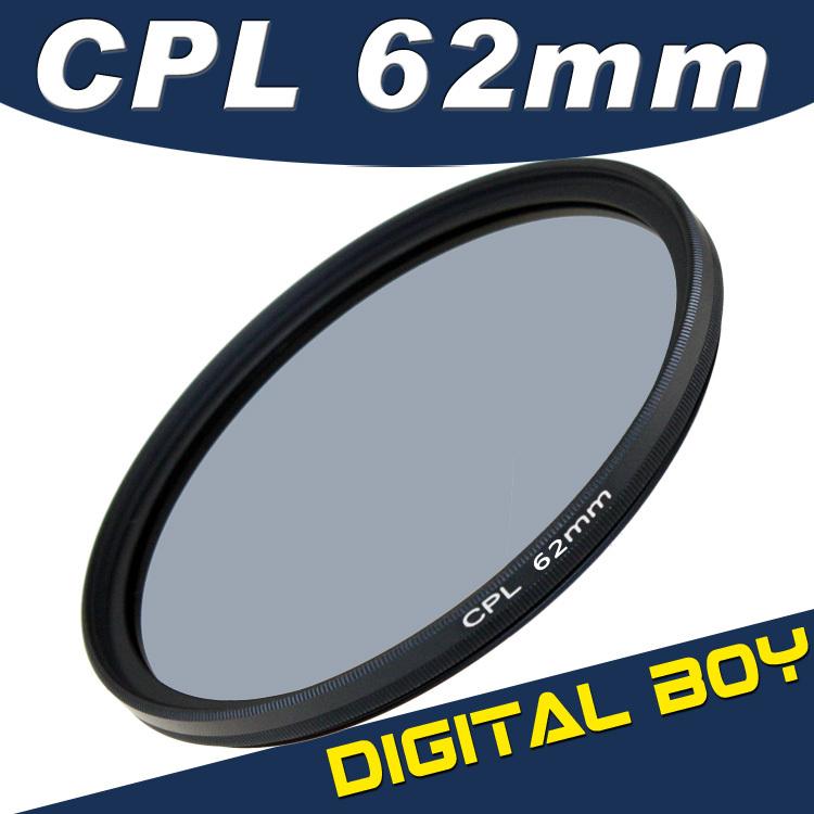 Circular Polarizing Filter Free shipping 62mm Circular Polarizing CPL lens filter electronics slr kit for canon eos alpha d90(China (Mainland))