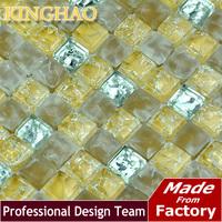 2014 Building Materials Pastilhas De Vidro Para Banheio Fireplace [kinghao] Supply Mosaic Wholesale Gold Stainless Steel Kic1509