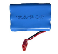 DH 7009 rc boat battery double horse radio control ship batteries 7.2V 650mAh