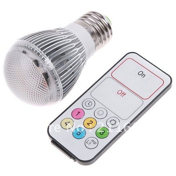 AC100-240V 4W 250LM E27 LED Bulb Lamp 120 levels Color Temperature changeable LED Lamp Light with Remote Control free shipping