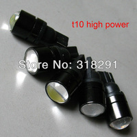 Wholesale T10 3W Lens High power W5W white  super bright Auto led car lighting wedge  lamp