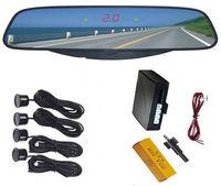 Free Shipping!!Brand New 4 Parking Black Sensors Car Reverse Mirror Backup Radar Kit