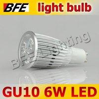 4pcs/Lot GU10 3 LED 6W Warm/Cold White Spot Light Bulbs High Power Bright