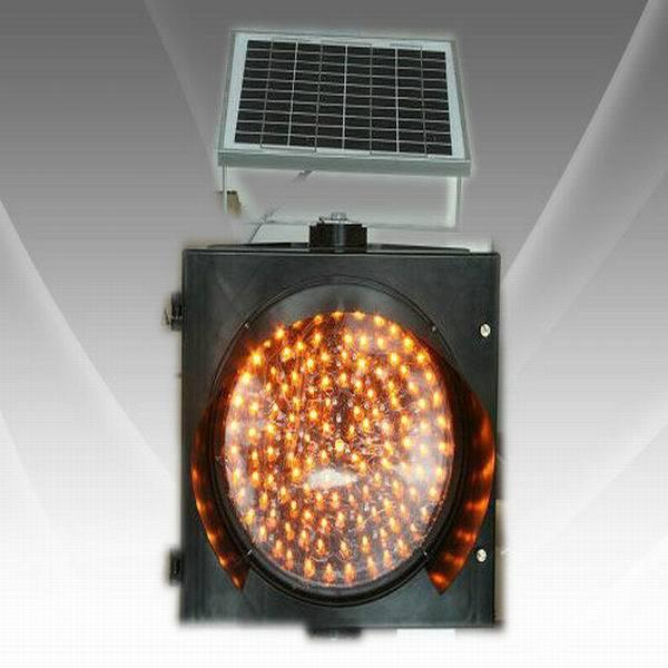 solar led yellow flash 300mm Traffic Warning Light(China (Mainland))