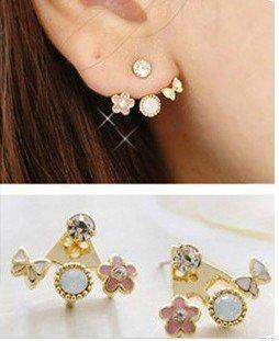 2014 New Fashion New Arrival  Cute Flower Pink Stud Earrings  New Fashion Jewelry    66E132
