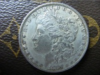 1885-CC morgan dollar silver coin
