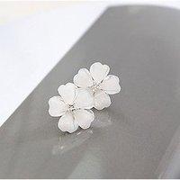 2014 New Fashion Hot Sell South Korea Style Flower Shaped Fashion Female Stud Earrings Flower Earrings   66E307
