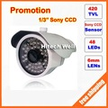 New Arrival Promotion 1/3&quot;sony 420tvl 48LED Night Vision Indoor/Outdoor security IR CCTV Camera. Free Shipping