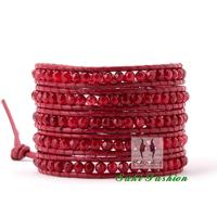 Fashion Exquisite Handmade Faceted Stone Wrap Bracelet Free Shipping Christmas Bracelet Chrsitmas Gift