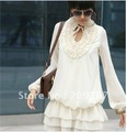 $15 off per $150 order The new decorative bow dress casual evening dress wholesale and retail apricot chiffon