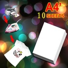 10 X A4 T Shirt Transfer Paper Tshirt Inkjet Iron On Heat 8.5x11(China (Mainland))