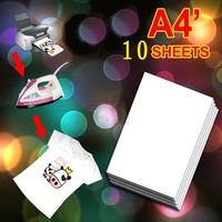 10 X A4 T Shirt Transfer Paper Tshirt Inkjet Iron On Heat 8.5x11
