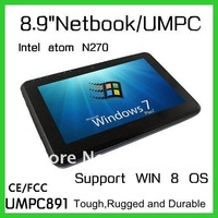 "8.9"" Windows 8/7 Tablet PC Intel Atom N270 2G Ram 32GB SSD 3G Free Shipping DHL"