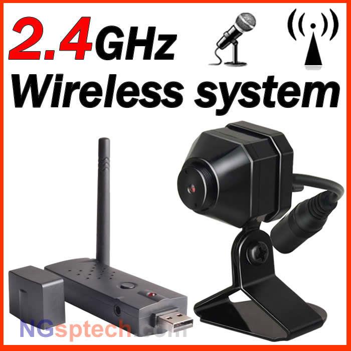 2.4 GHz PC recording wireless Receiver Wireless USB DVR + Wireless camera(China (Mainland))
