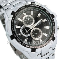 2012 Hot! Fashion Men's Watch Men Quartz Adjustable Stainless Steel Analog Watch M917B Wholesale military men's watches