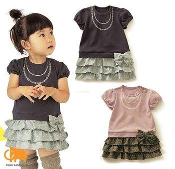 Free shipping baby girl  summer dress,  Children Ruffle bowknot skirt/Suit/Wear