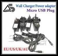 EU AU US UK Wall charger For GPS/Phone/MP3/MP4 mini USB plug adapter
