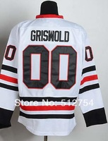 #00 Clark Griswold Jersey,Ice Hockey Jersey,Best quality,Embroidery logos,Authentic Jersey,Size M--XXXL,Accept Mix Order