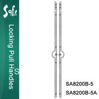 SUS304 grade stainless steel locking door pull for swing door