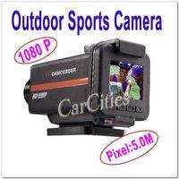5.0M Mini Outdoor/Handsfree Sports Camera,waterproof sport helmet action camera,cam DVR HDMI,resolution 1920*1080,Free shipping