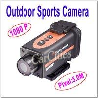 5.0M waterproof sport/helmet action camera,cam DVR HDMI,Mini Outdoor/Handsfree Sports Camera,resolution 1920*1080,Free shipping