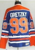 Edmonton #99 Wayne Gretzky Jersey,Ice Hockey Jersey,Best quality,Embroidery logos,Authentic Jersey,Size M--XXXL,Accept Mix Order