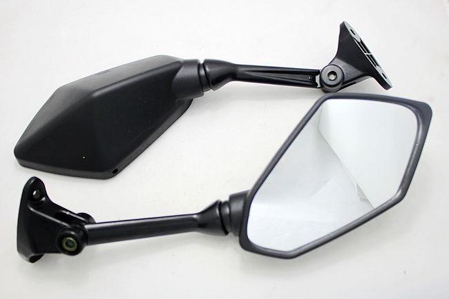 motorcycle parts Motorcycle Mirrors For Kawasaki ZX-6R ZX6R 2009 2010 2011 Black Rearview Mirror(China (Mainland))