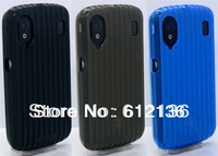 Free shipping Sofiz matte stripe tpu soft case + anti glare screen protector film for ZTE Skate Monte Carlo V960