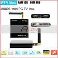NEW Mini TV box MK805 Allwinner A10 Android 4.0 RAM 1GB ROM 4GB Google TV WIFI Smart Android Box HKpost Freeshipping