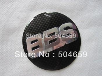 BBS Carbon Fiber BLACK or RED Car Wheel Center Hub Caps Emblem Decal Sticker 56.5mm