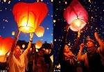 free shipping 100/lot Love Heart Sky Lanterns Wishing Lamp SKY CHINESE Paper LANTERNS for BIRTHDAY WEDDING PARTY