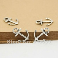 60pcs/lot 15*19mm  Antique Silver Metal Alloy Nautical Anchor Charms Jewelry Anchor Pendants 2686