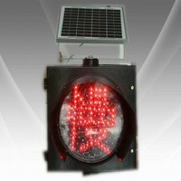 2013 Popular 300mm LED Solar Yellow  Flashing Lamp With SLOW WORD