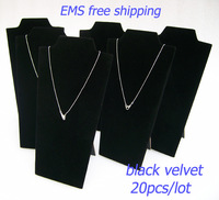 """Free EMS Lot of 20PCS Black Velvet Foldable Jewelry Necklace Pendant Display Stand Easel 8 1/2"""" height"""