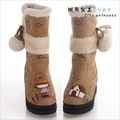 Free shipping , ladies fashion  hand painted snow boots   G-K011