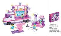 Holiday Sales Enlighten Child B0253 educational blocks bricks SLUBAN Light Stage building block sets,children toys free Shipping
