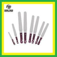 TJ wooden handle Screen printing  ink spatulas    4#small