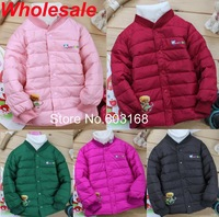 Warm 2012 Bear Print  Duck Down Kid's Jacket Down Liner Children's Outerwear[iso-12-7-5-A1]