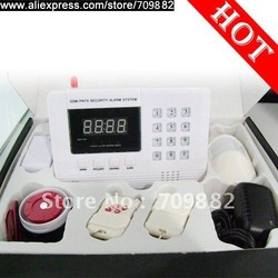 PSTN and GSM Wireless Burglar Alarm Security System anti-thief system Home Shop Garden Auto Dial Double Network(China (Mainland))
