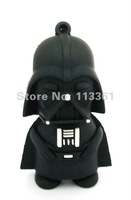 100% Full 4GB 8GB 16GB 32GB Darth Vader USB 2.0 Flash Pen Drive U-disk Memory Card Stick Mobile Storage Devices + Free Shipping!